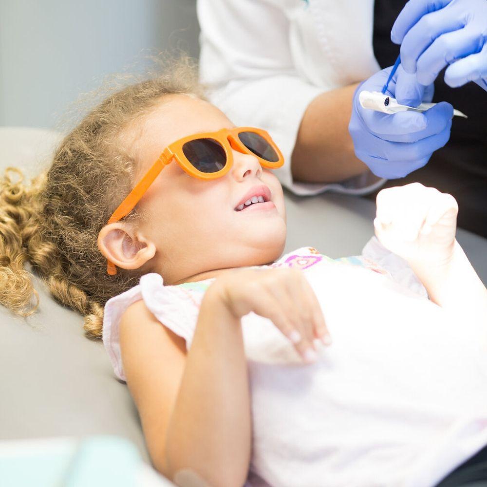 pediatric patient in glasses