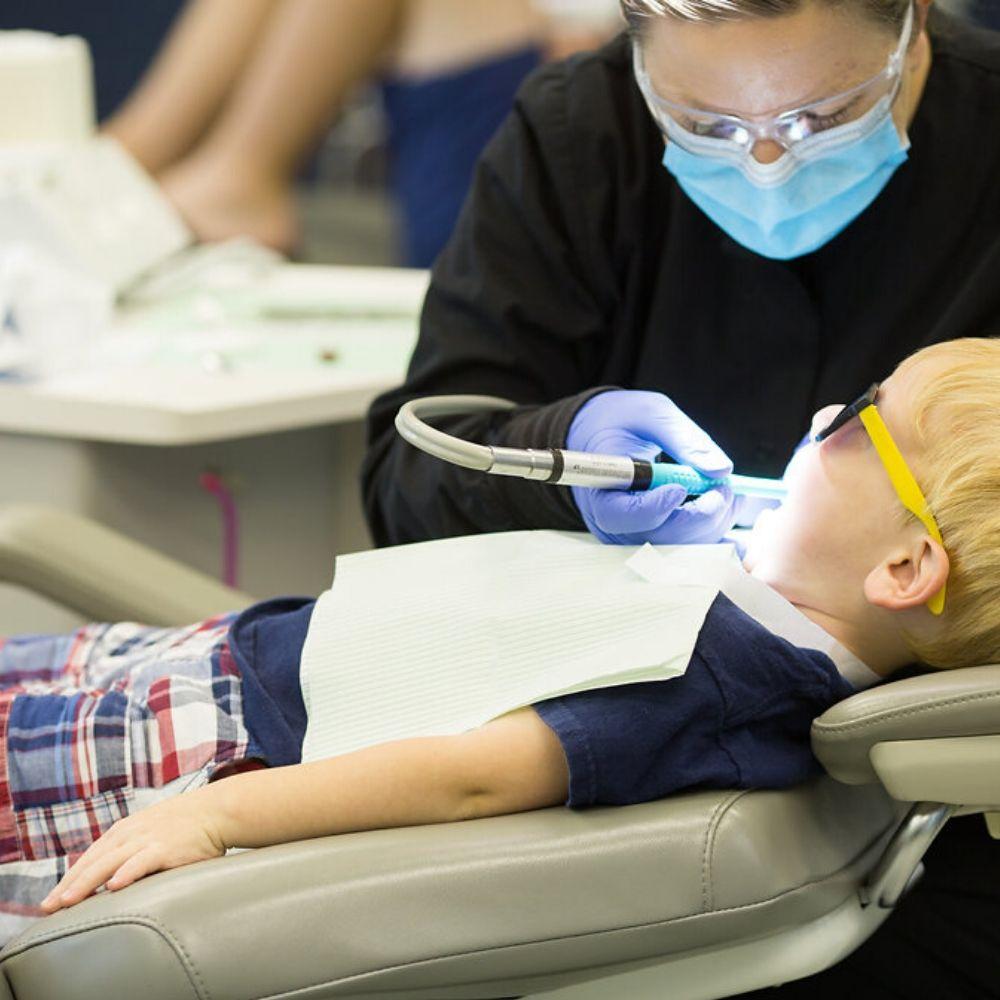 pediatric patient in a procedure